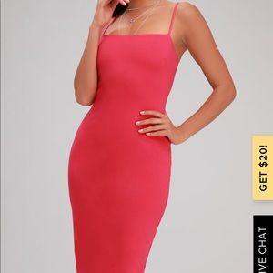Lulus Attitude Hot Pink Bodycon Dress